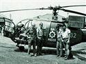 Um helicóptero da polícia da África do Sul, numa visita ao quartel de Vila Artur de Paiva, em 1967