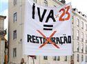 Sector da restauração fez protesto dentro e fora da Assembleia da República