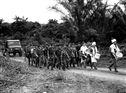 Chegada de tropas para um convívio, no Massabi de P.A.D. de Cabinda