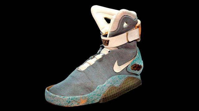 """Self-lacing Nikes from """"Back to the Future Part II"""" (Splash News/Profiles In History/Newscom)"""