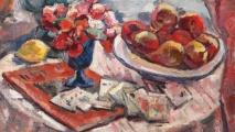 Nicolae Dărăscu, Natură statică cu flori, fructe şi cărţi de joc