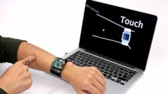 VIDEO: Invention Lets Smartwatch Users Use Their Arms as Trackpad