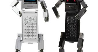 Toshiba 815T PB, the Coolest Phone for Robot Lovers