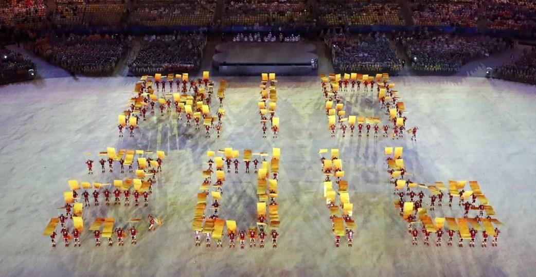 A festa da cerimónia de encerramento dos Jogos Olímpicos