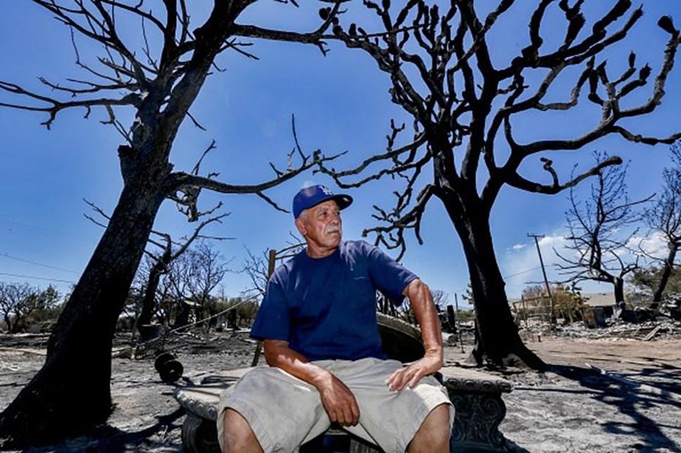 A destruição das chamas na Califórnia