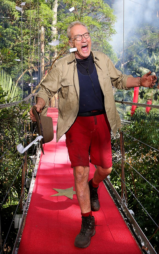 Leaving the flock without its shepherd: Larry Lamb has become the sixth celebrity to be evicted from the I'm A Celebrity camp on Thursday evening's show