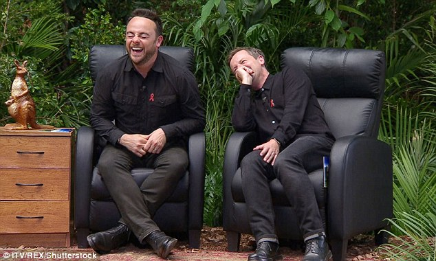 All the laughs: Scarlett's squealing and screaming amused Ant and Dec greatly