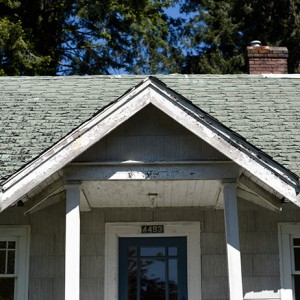 The old roof of the 4453 W 14 Street home in Vancouver, BC. This home sold for 2.4 million. (Photo by Jimmy Jeong)