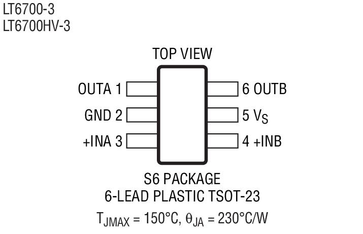 LT6700 Package Drawing