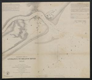 Preliminary chart of entrance to Brazos River, Texas / from a trigonometrical survey under the direction of A. Bache ; triangulation by J.S. Williams ; topography by J.M. Wampler ; hydrography by the parties under the command of E.J. De Haven & J.K. Duer.