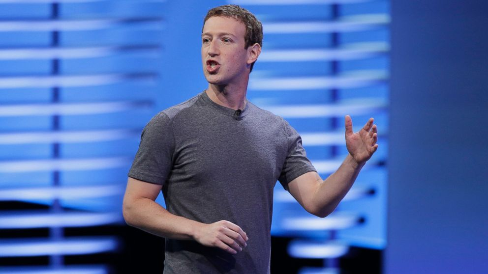 PHOTO: Facebook CEO Mark Zuckerberg delivers the keynote address at the F8 Facebook Developer Conference in San Francisco, April 12, 2016.