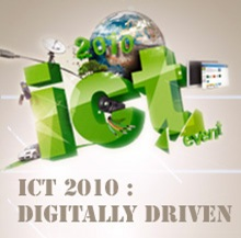 Logotipo do evento ICT 2010: DIGITALLY DRIVEN""