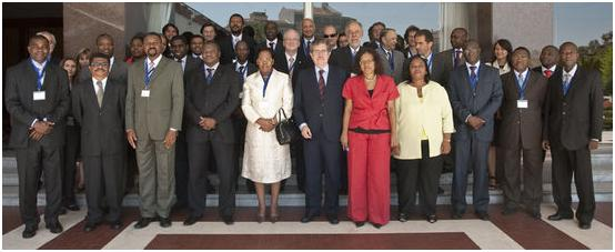 Photo of the delegations to the Meeting of Ministers of Science, Technology and Higher Education of the CPLP